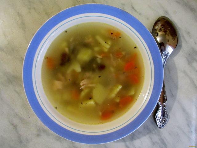 Рецепт Куриный суп с фасолью рецепт с фото