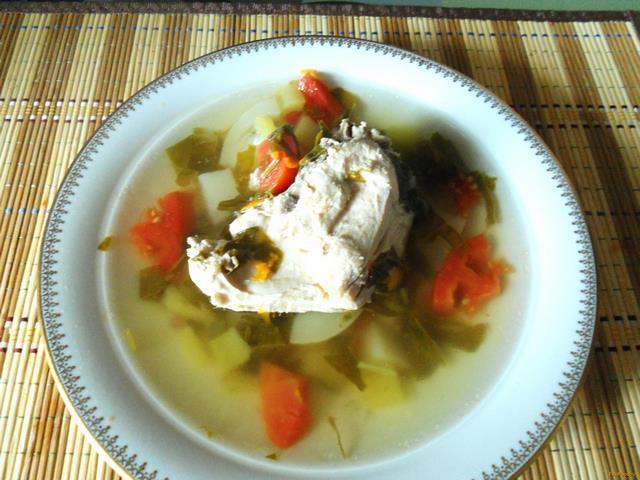 Рецепт Летний овощной суп с курицей рецепт с фото