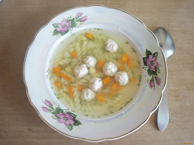 Рецепт Диетический суп с фрикадельками рецепт с фото