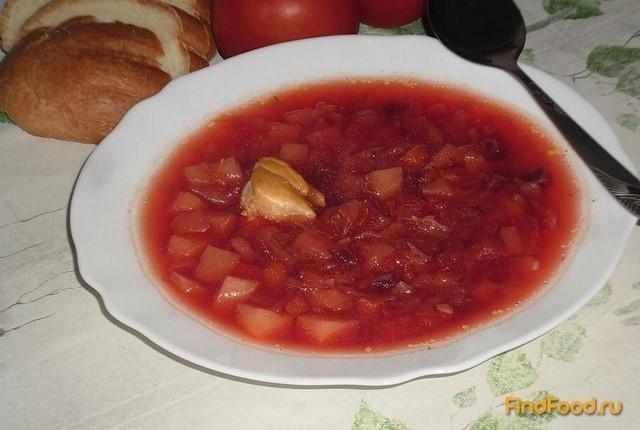 Рецепт приготовления борща с квашеной капустой