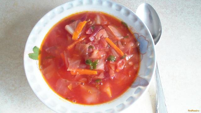 Рецепт Борщ флотский мясной рецепт с фото