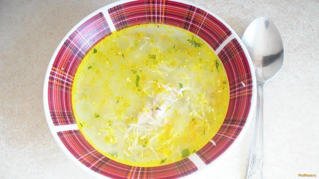 Рецепт Овощной суп с курицей и яйцом рецепт с фото