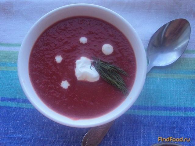 Рецепт Свекольный суп-пюре с яблоками рецепт с фото