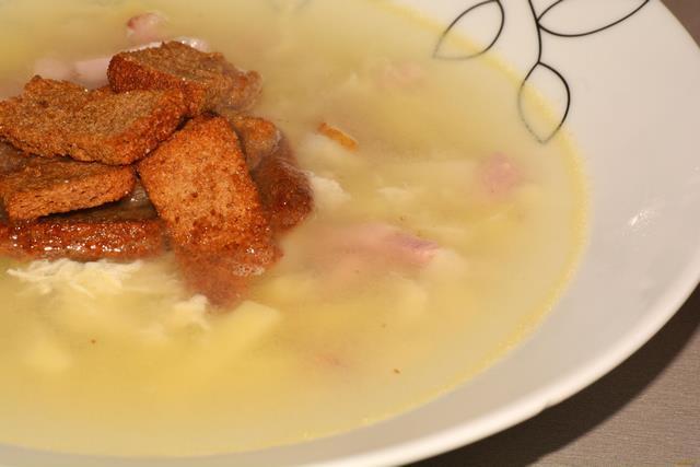 Рецепт Чешский чесночный суп Чеснечка рецепт с фото