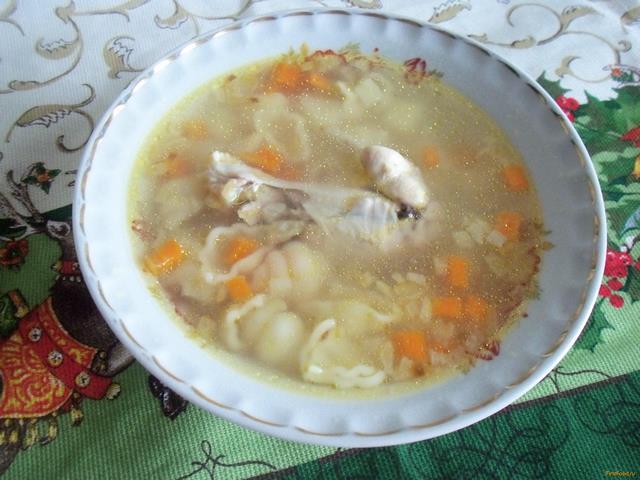куриный суп с рожками рецепт