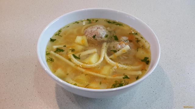 суп с фрикадельками и с вермишелью пошаговый рецепт с фото