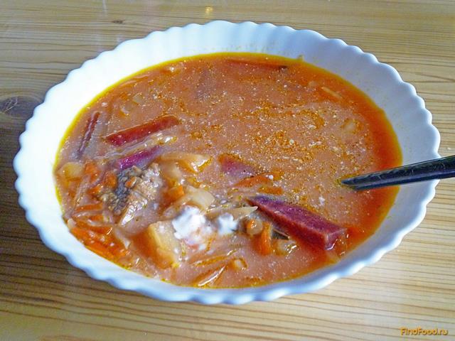 Борщ без томатной пасты рецепт с фото