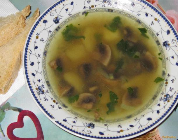 Суп с шампиньонами грибами рецепт пошагово