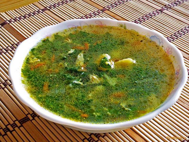суп из крапивы рецепт с фото