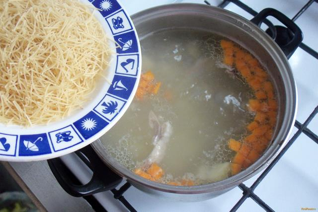 Суп из индейки с макаронами рецепт с фото 5-го шага