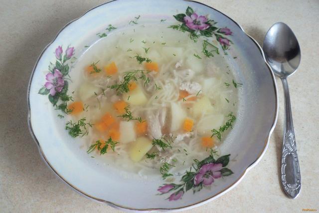 Суп из индейки с макаронами рецепт с фото 7-го шага
