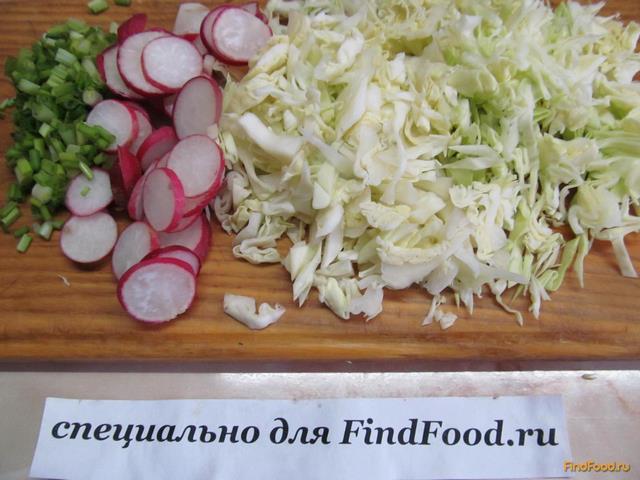 рецепт салата с капустой и редисом и