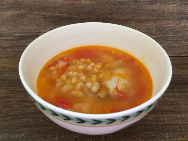 рецепт с фото фасолевый суп с курицей в мультиварке