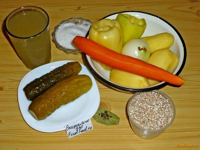 Рассольник с пшеничной крупой и сладким перцем рецепт с фото 1-го шага