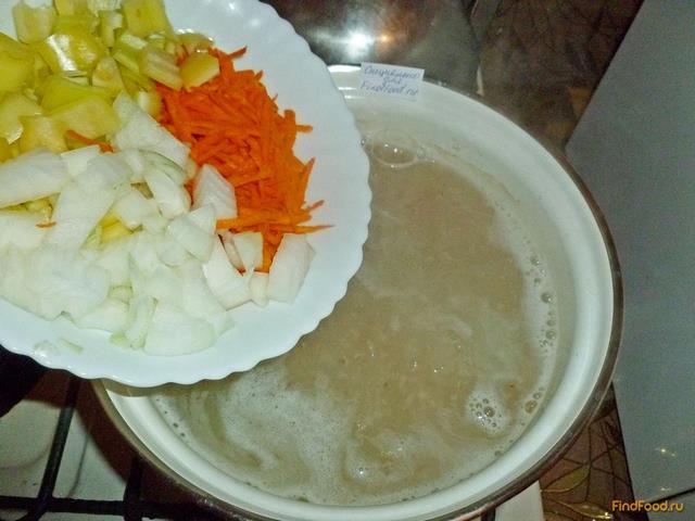 Рассольник с пшеничной крупой и сладким перцем рецепт с фото 9-го шага