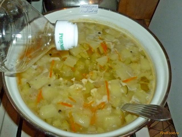 Рассольник с пшеничной крупой и сладким перцем рецепт с фото 14-го шага