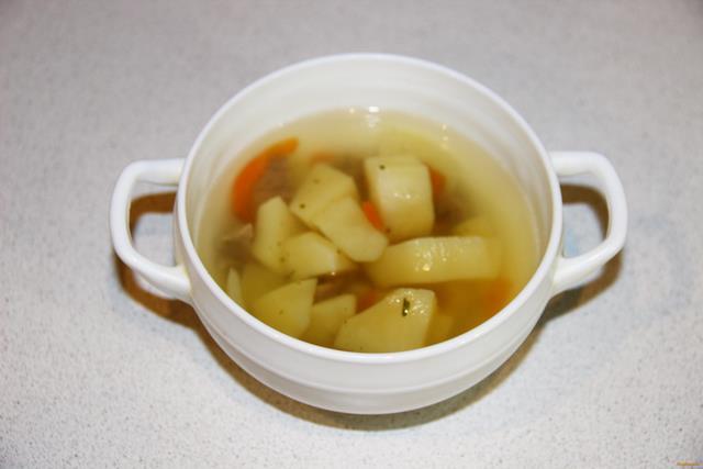 Картофельный суп с индейкой рецепт с фото 9-го шага
