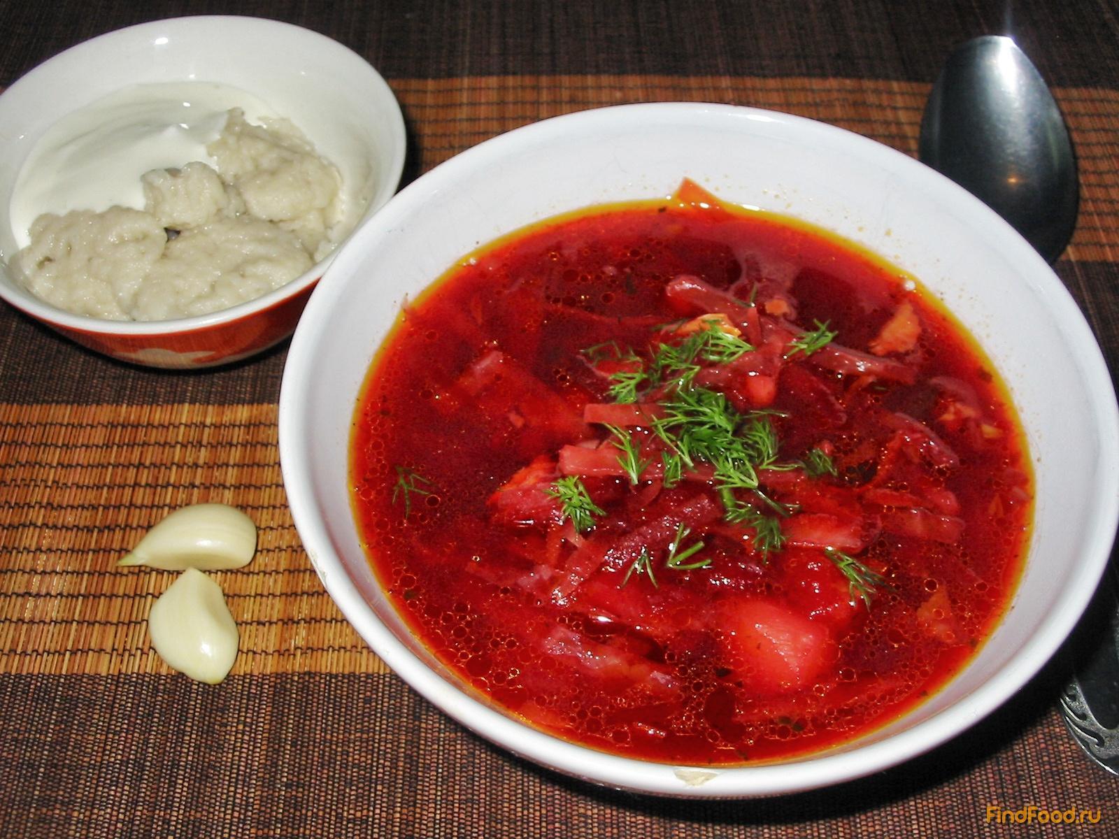 рецепт украинский борщ с фото