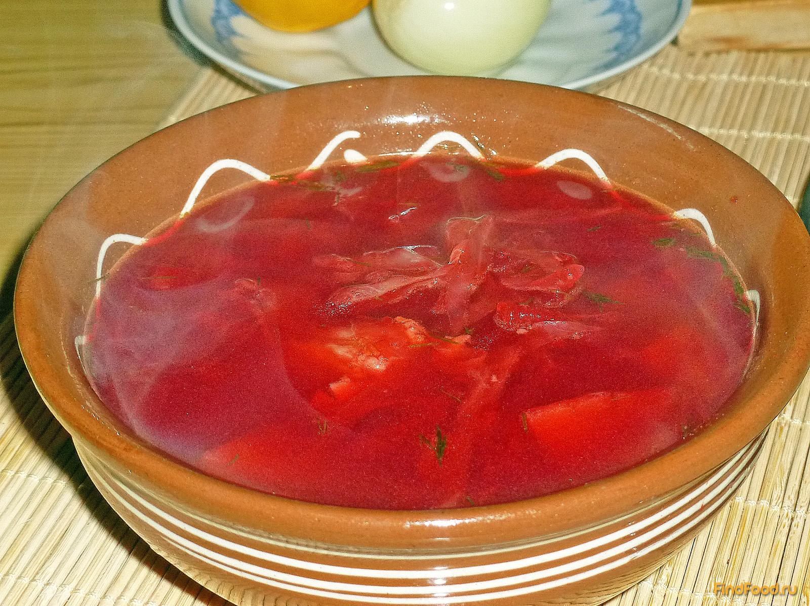 Рецепт борща со свининой с фото пошагово
