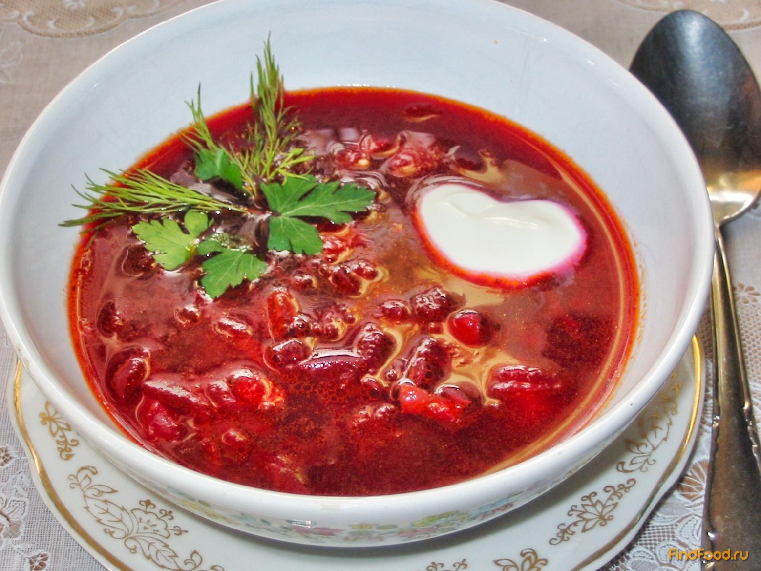 рецепт суп борщ с грибами