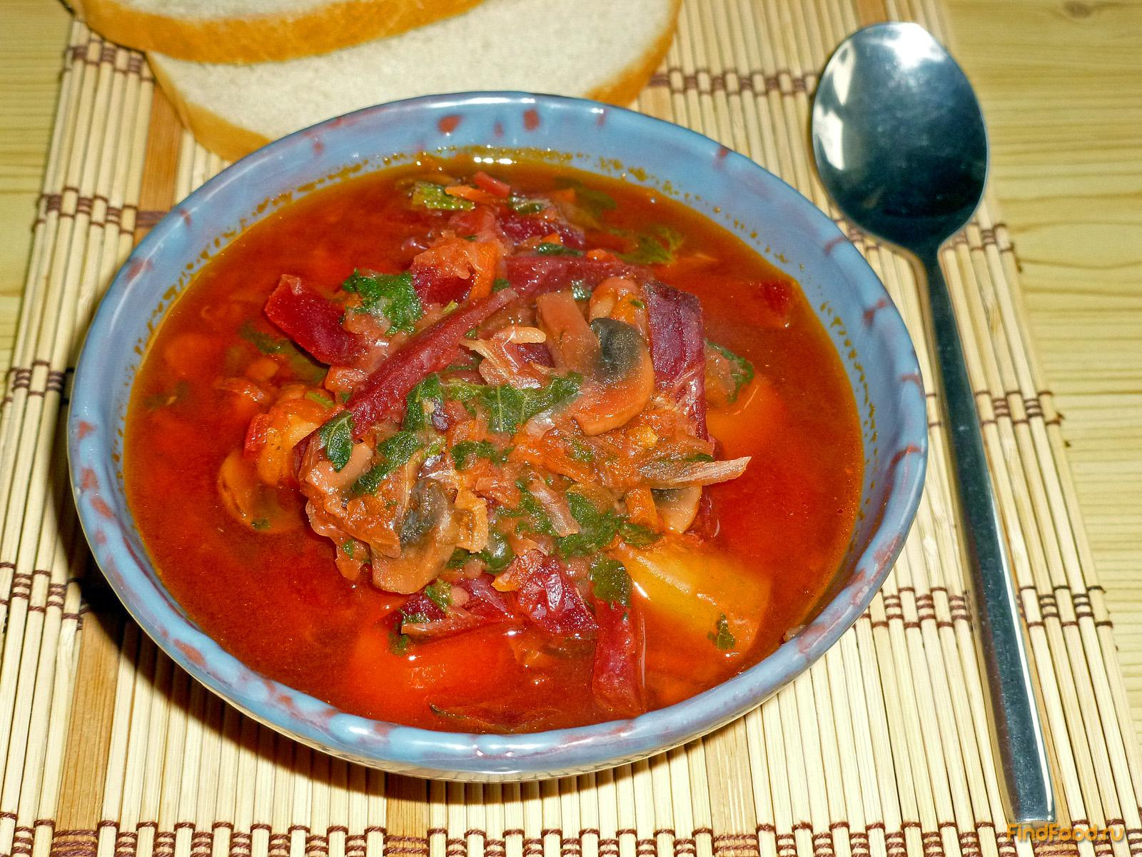 Борщ с грибами рецепт