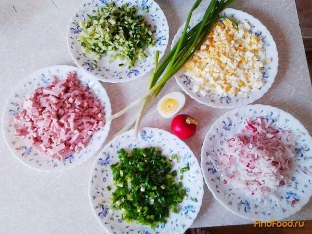 Как приготовить окрошку рецепт пошагово с