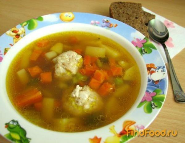 Суп с фрикадельками с детского сада