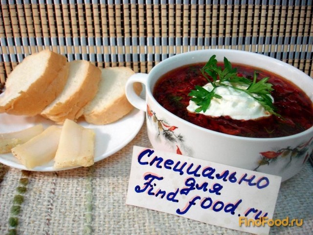 холодный борщ классический рецепт пошаговый