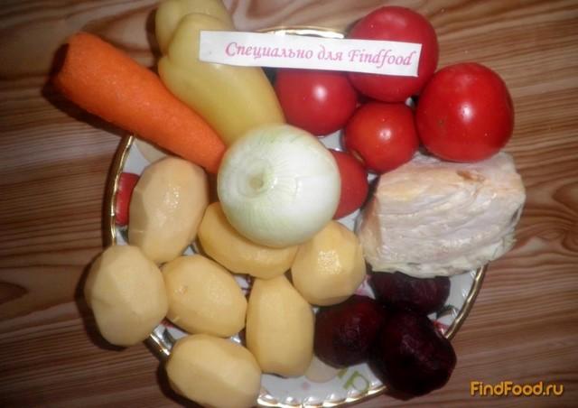 Украинский борщ с салом и чесноком - пошаговый рецепт с ...