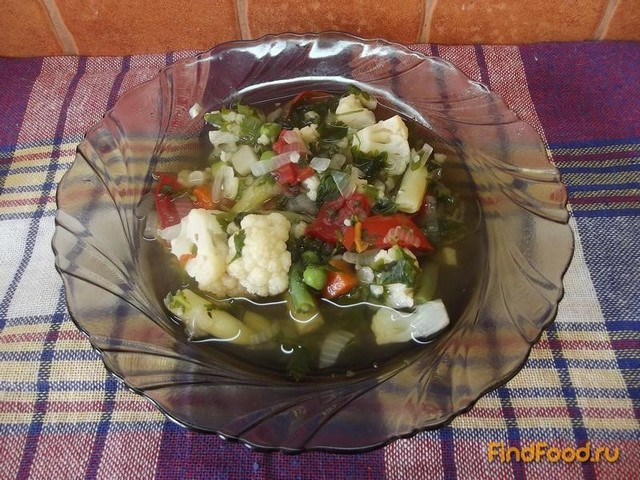 рецепт овощного супа с цветной капустой и кукурузой