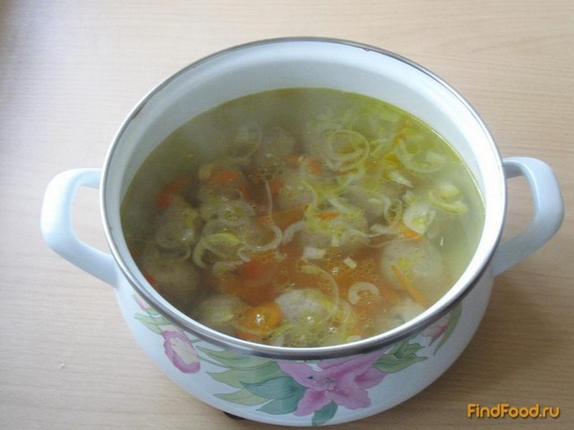 Суп с клецками и фрикадельками рецепт с пошаговый рецепт с