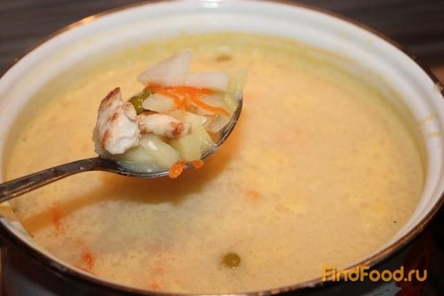 суп с плавленным сыром и зеленым горошком рецепты
