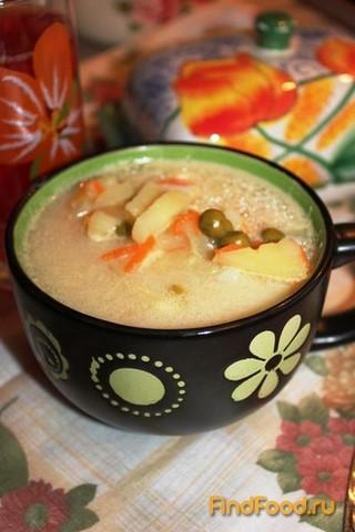 суп с консервированным зеленым горошком рецепт с фото