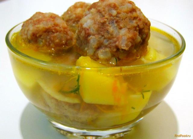 рецепт супа из фрикаделек видео