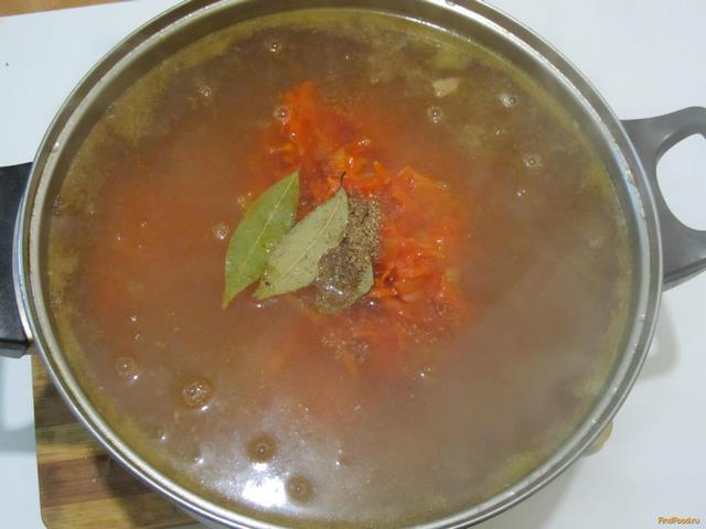 суп с фасолью и томатной пастой рецепт с фото