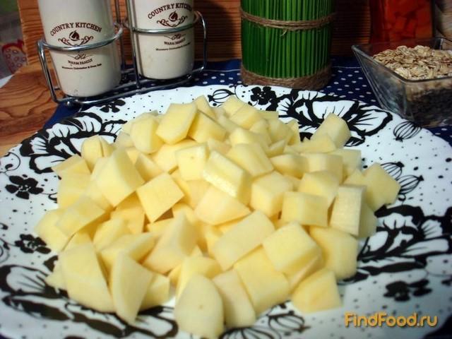 Суп из овсяных хлопьев и сыра рецепт с фото 2-го шага
