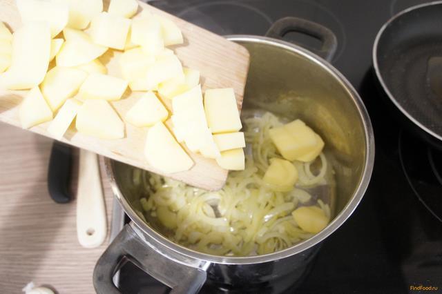 Чесночный суп с гренками рецепт с фото 2-го шага