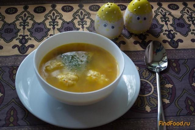 Рецепт Овощной суп с сырными клецками рецепт с фото