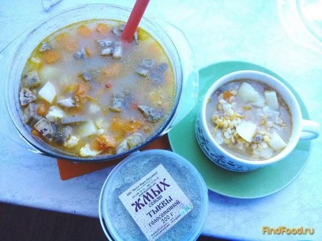 Рецепт Гороховый суп с овощами и жмыхом рецепт с фото
