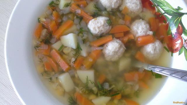 Рецепт Гороховый суп с куриными шариками рецепт с фото