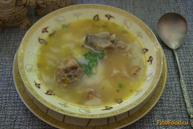 Рецепт Сытный суп на говядине с беконом рецепт с фото