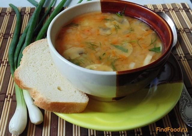 Рецепт Гороховый суп с грибами и томатом рецепт с фото