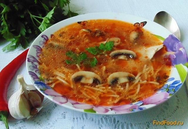 Рецепт Куриный суп с вермишелью и томатом рецепт с фото