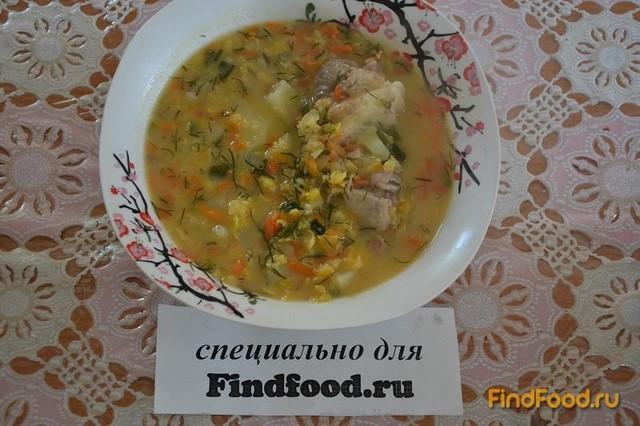 Рецепт Быстрый гороховый суп со свининой рецепт с фото