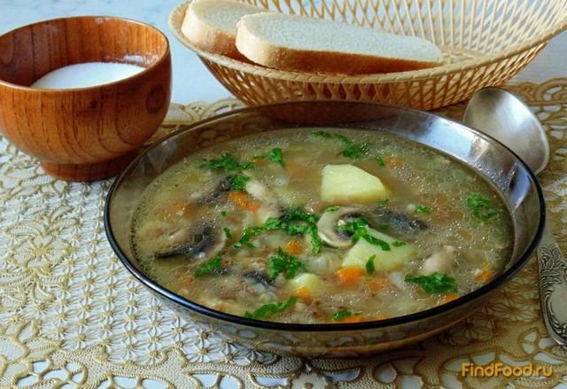 Рецепт Гречневый суп с грибами рецепт с фото