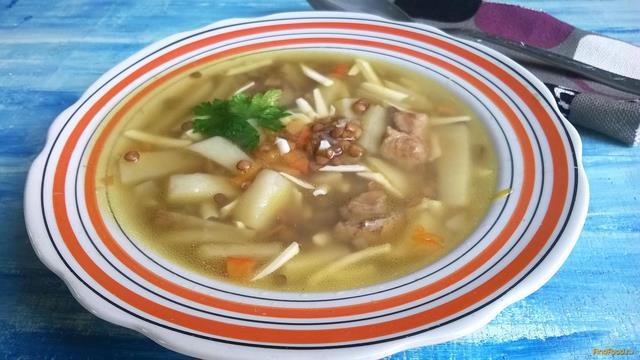 Рецепт Суп с коричневой чечевицей и плавленным сырком рецепт с фото