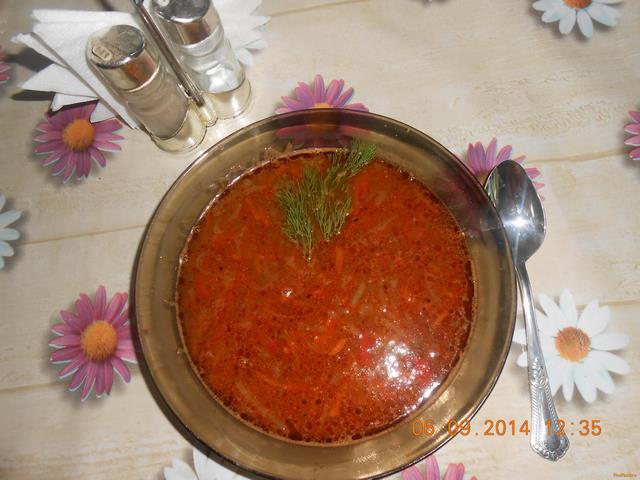 Рецепт Домашние щи с фасолью рецепт с фото