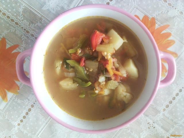 Рецепт Куриный суп с баклажанами рецепт с фото