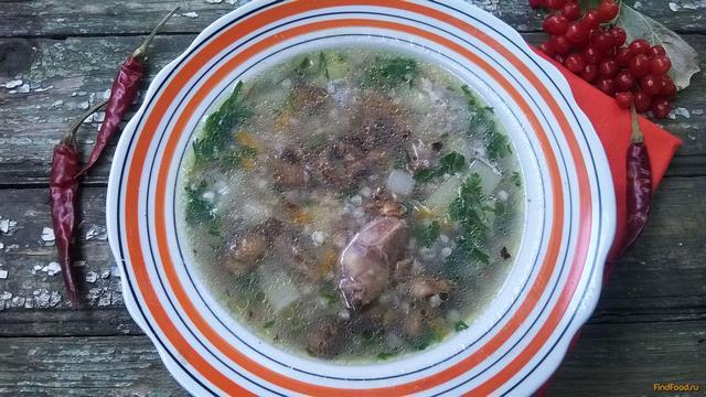 Рецепт Грибной суп с куриными сердечками и зеленой гречкой рецепт с фото