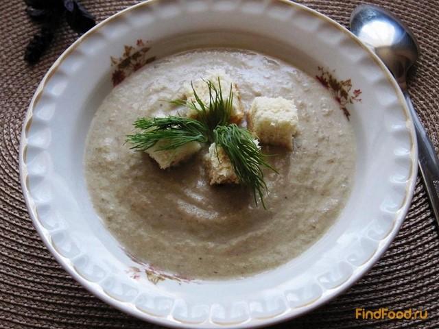 Рецепт Суп-пюре из грибов с чесночными гренками рецепт с фото